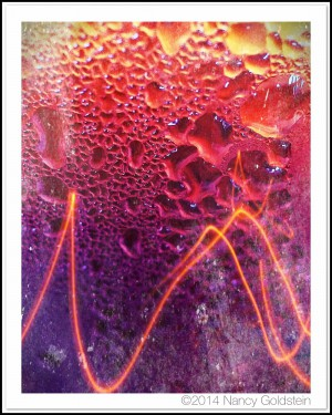Color macro iPhoto of iced tea
