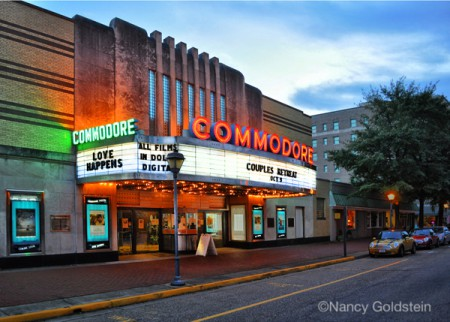 Photo, color, art deco movie palace